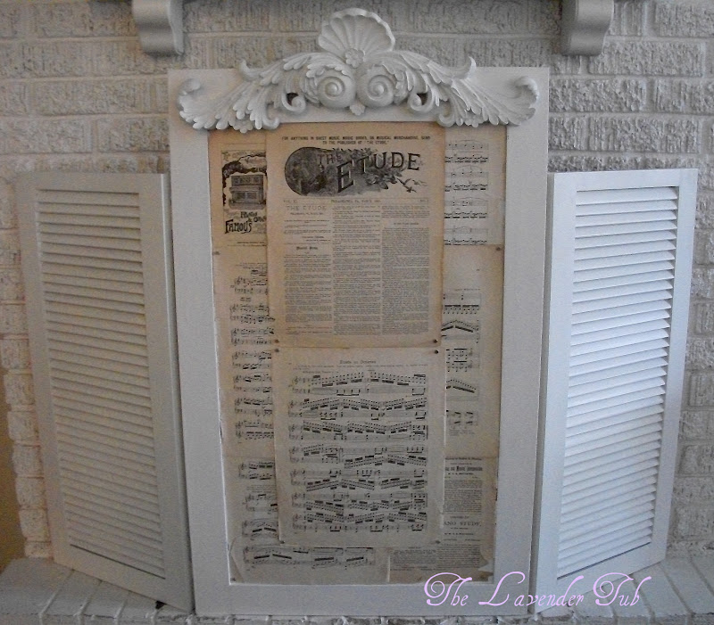 The Lavender Tub: Fireplace Screen to Memo Board
