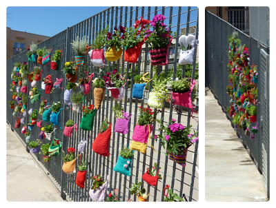 Crochet urban plant pot