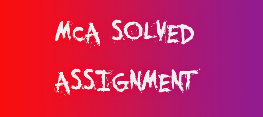 Ignou 4 u solved assignment