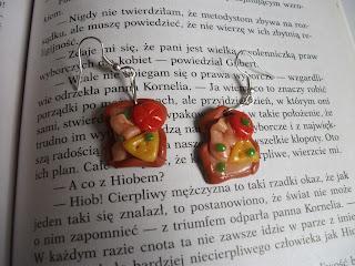Kolczyki kanapki z modeliny :3