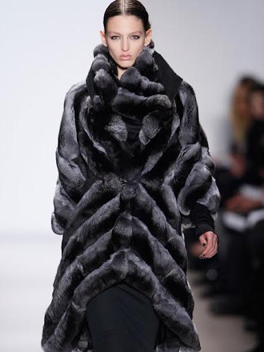 Кожено палто от чинчила на Basso