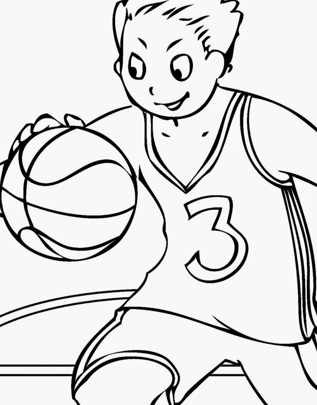 Basketball Coloring Pages Kidsuki