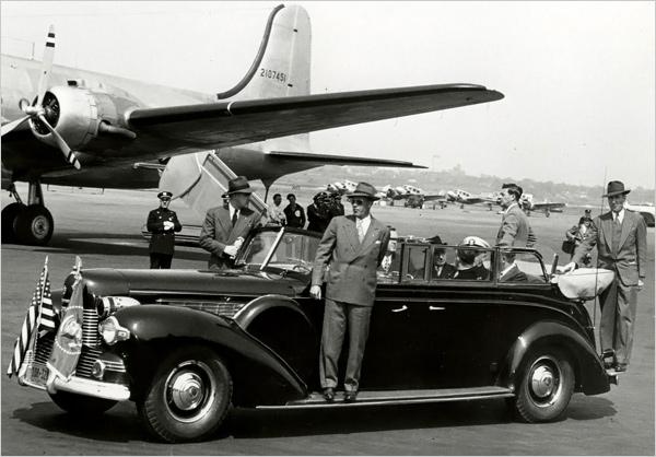 Secret Service guarding President Truman