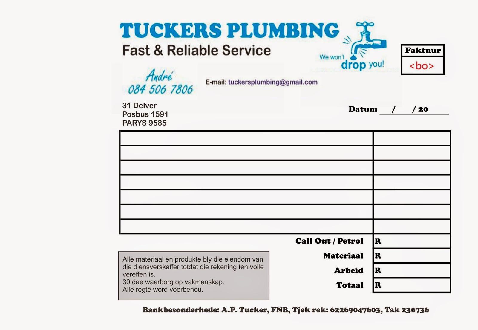 Sample Plumbing Invoice