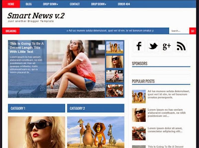 Smart News V2 - Magazine Responsive SEO Blogger Template