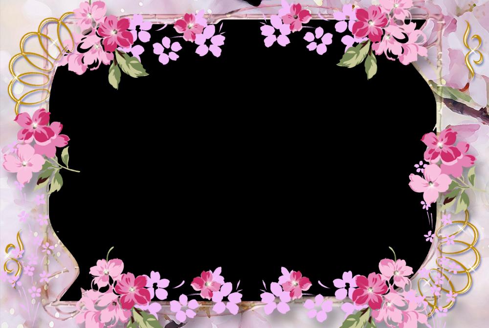 Marco de fotos para 15 a os flores para las chicas bellas - Cuadros con marco blanco ...
