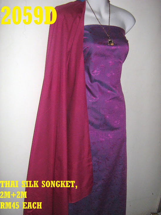 2059D: THAI SILK SONGKET, 2M+2M, MATERIAL COTTON