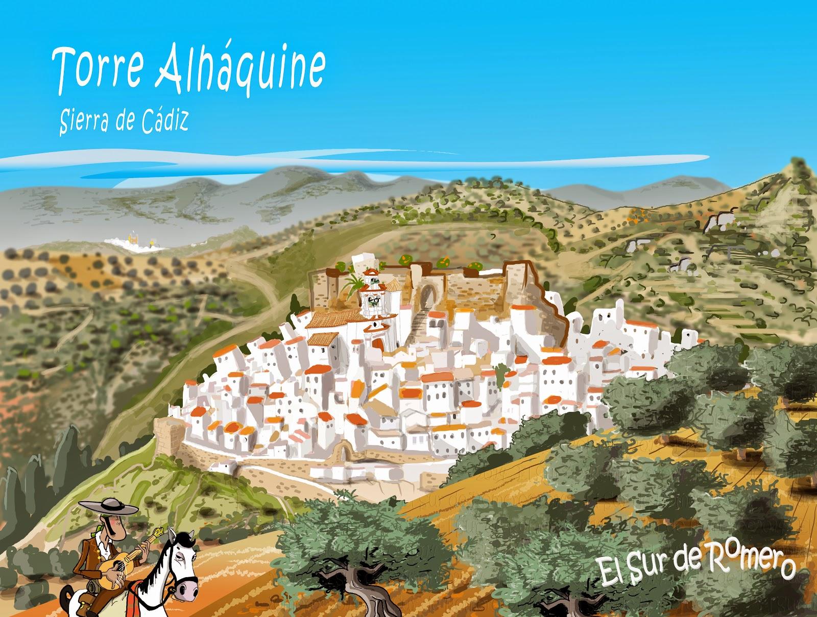 "<img src=""Torre Alháquine.jpg"" alt=""dibujo de Sierra de Cádiz""/>"