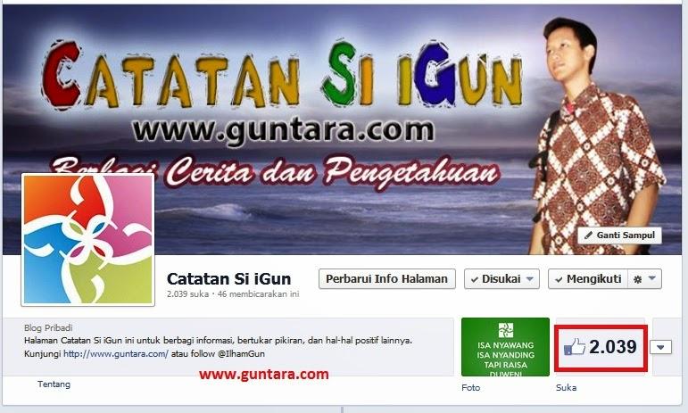 "Fanspage ""Catatan Si iGun"" milik Ilham Guntara"