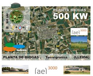 torregrosa 500 KW INSTALACION DE PLANTA DE BIOGAS INDEREN ENERGIAS RENOVABLES VALENCIA LLEIDA TORREGROSSA