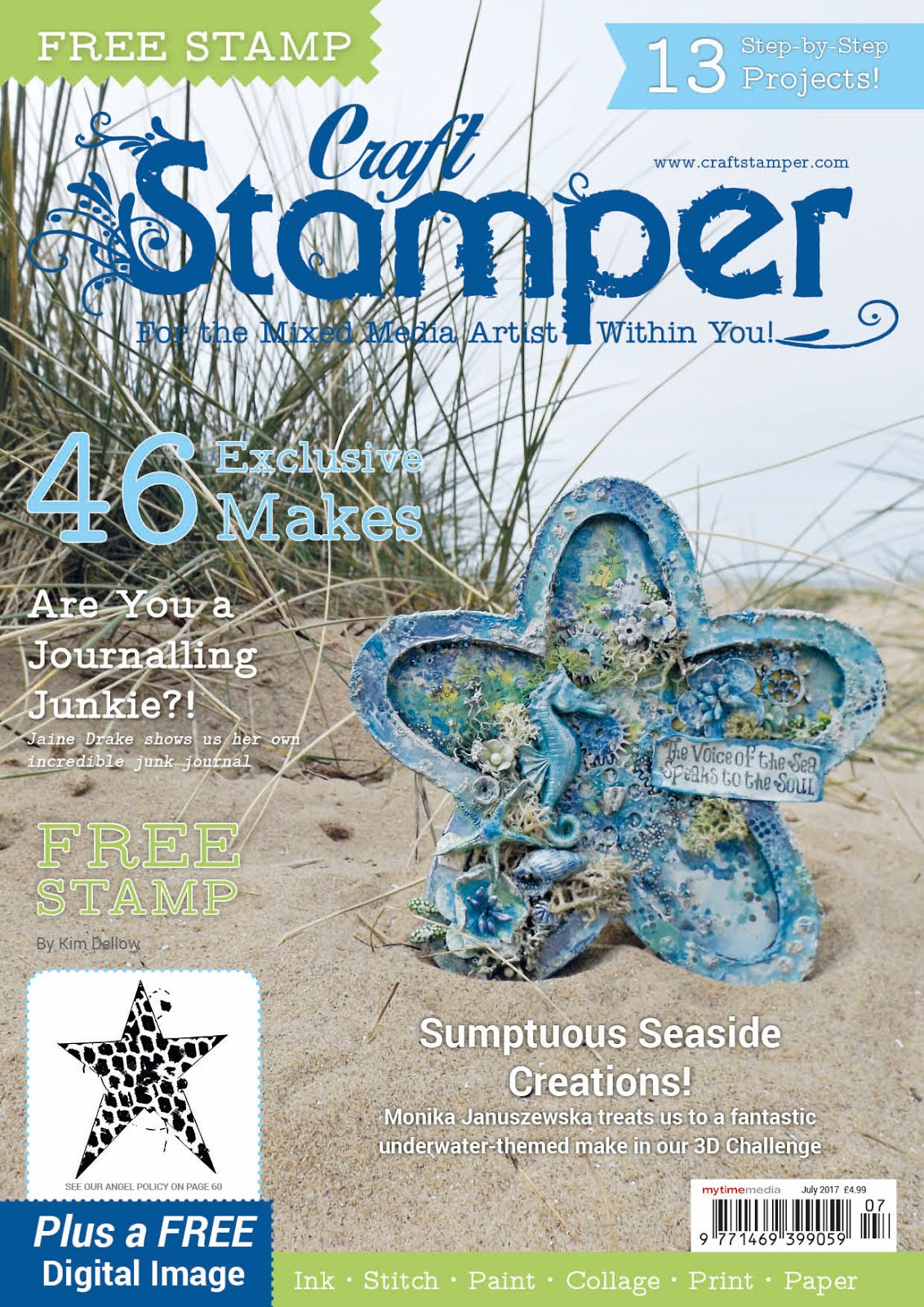 Proud to have been published in the July 17 issue of Craft Stamper magazine