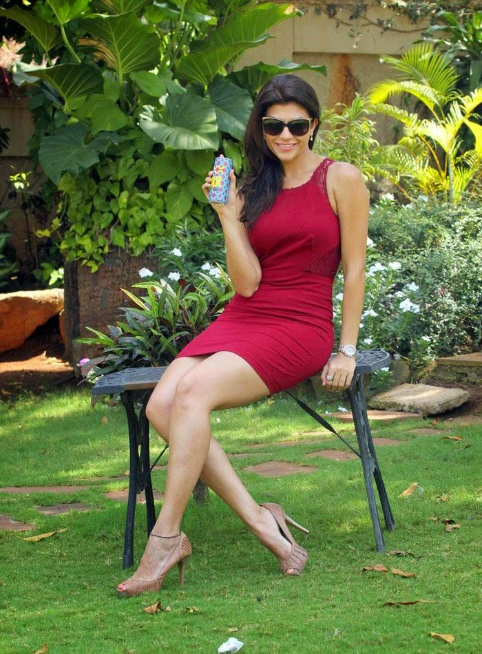 sexy-archana-vijaya-in-red-dress-promoting-xxx-energy-drink