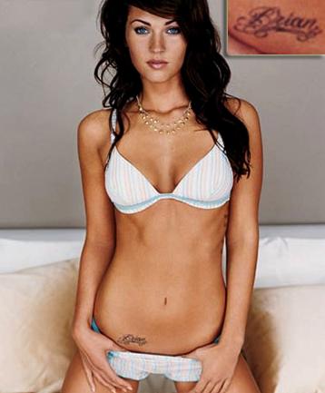 Modele Tatouage Ventre Femme - Tatouage sur le Bas Ventre d'un Femme affichant un jolie