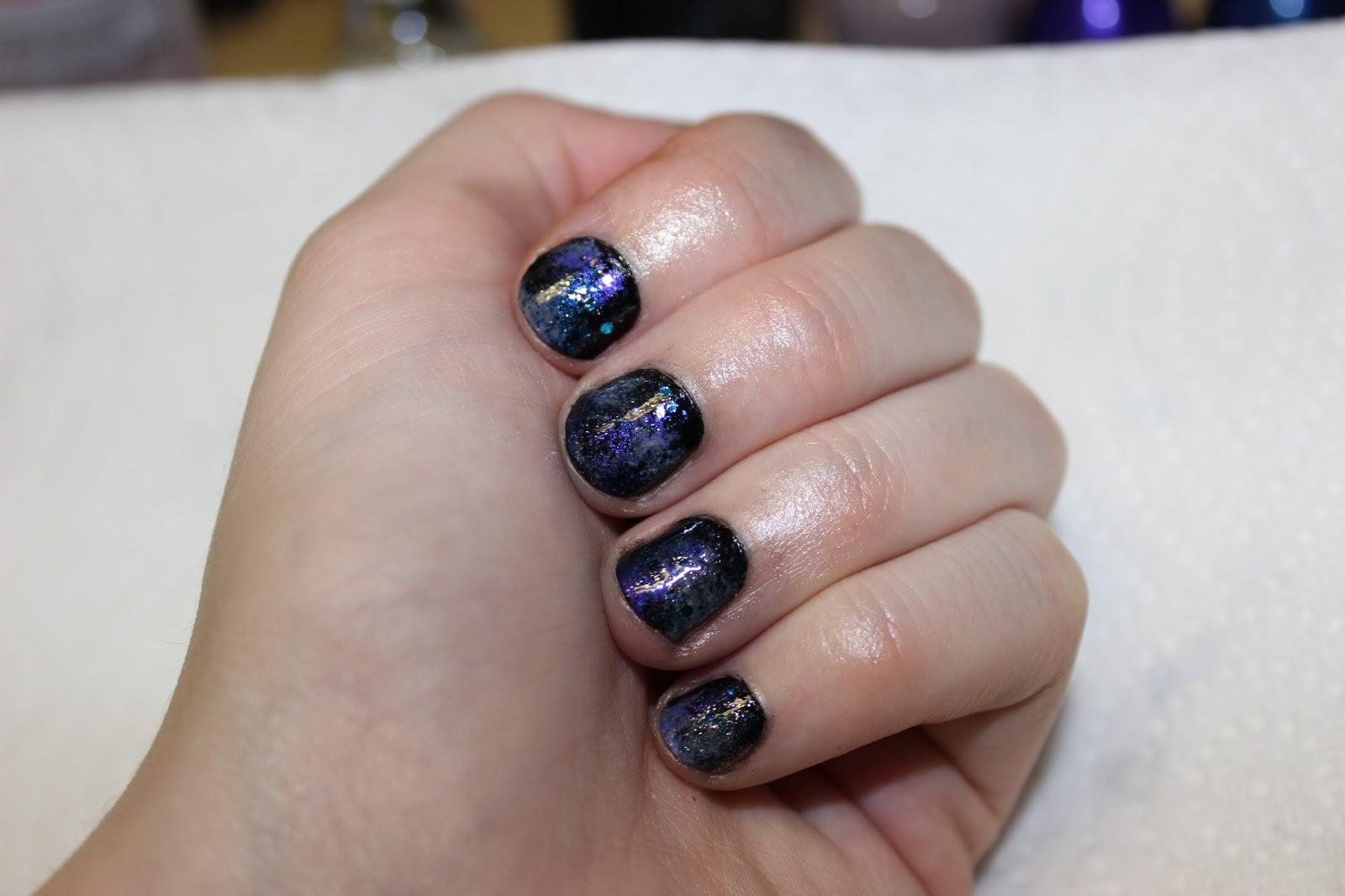 Luhivys Favorite Things Easy Nail Art Tutorial Galaxy Nails