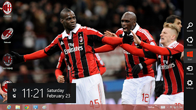 2013 Ac Milan Windows 7 Theme