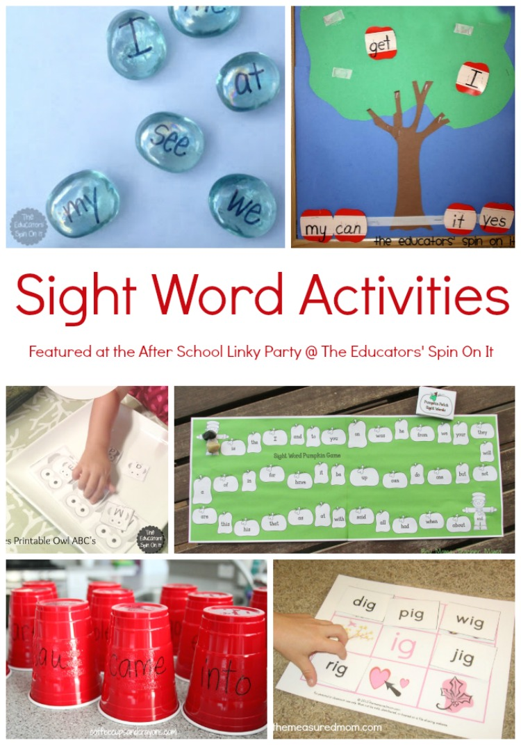 Word word Family Educators' The list activities & Sight  Word It: Activities On Spin sight