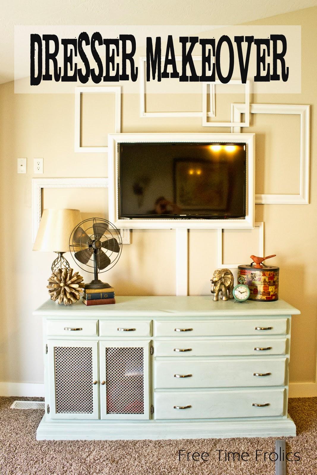 Dresser makeover with Annie Sloan paint www.freetimefrolics.om