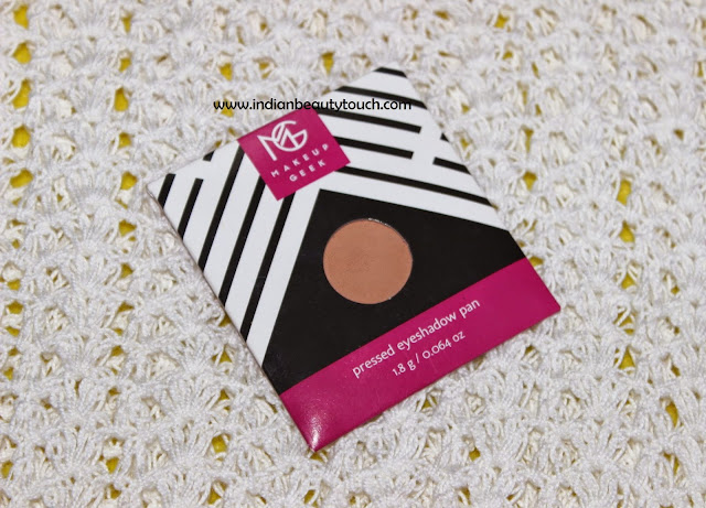 Makeup Geek Eyeshadow in Creme Brulee Review and Swatches
