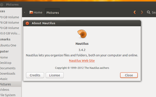 nautilus 3.4.2 for ubuntu 12.10