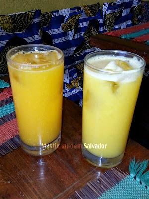 Romã Restaurante Natural: Sucos naturais de Laranja e de Tangerina