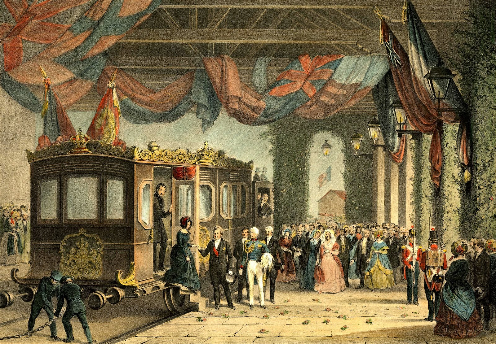 Queen Victoria arrives at Gosport
