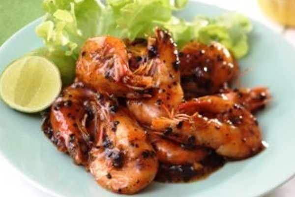 Pepper Seasoning Shrimp. Nusantara Culinary