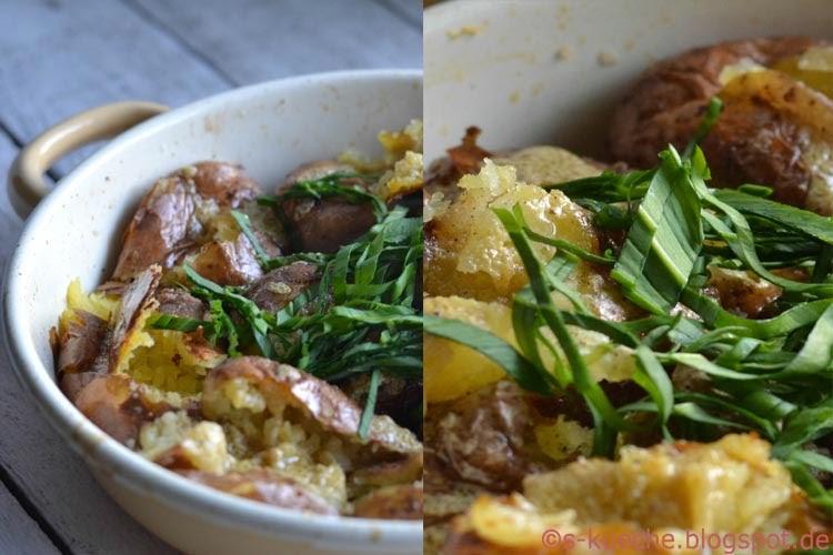 Backkartoffelsalat mit Bärlauch