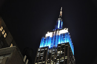 CNN turned the Empire State Building blue