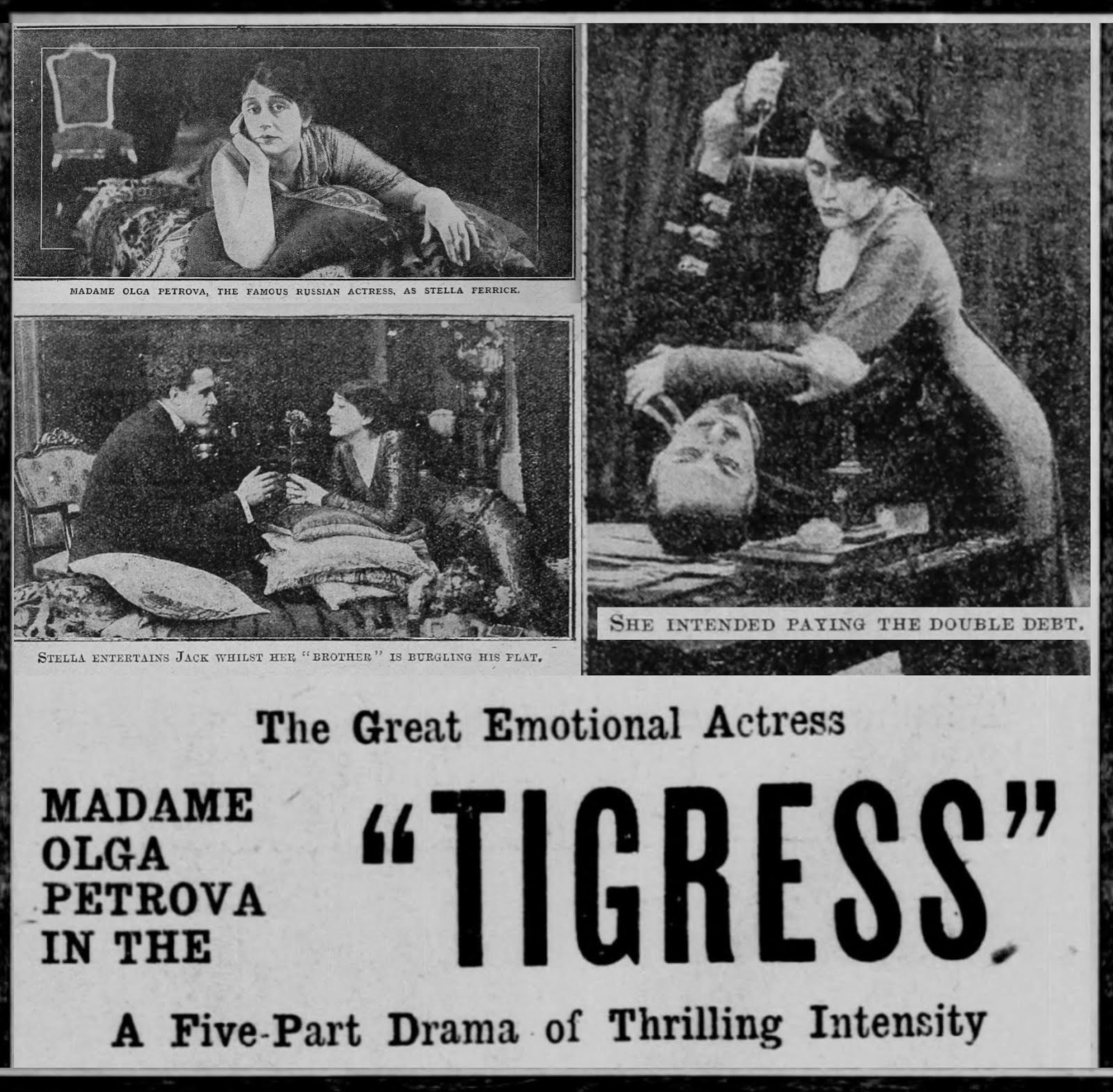 The TIGRESS by Alice Guy Blache with Olga Petrova