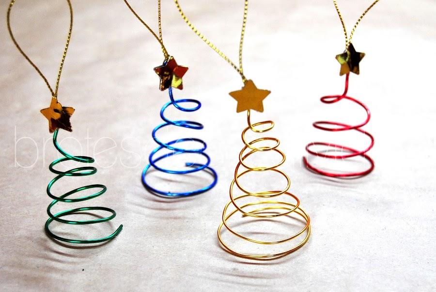 Adornos para rbol de navidad hechos con alambre - Hacer adornos para el arbol de navidad ...