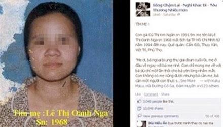 Chuyện cảm động của cô bé nhờ facebook tìm mẹ