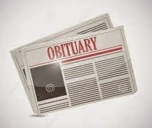Obituary in Newspaper