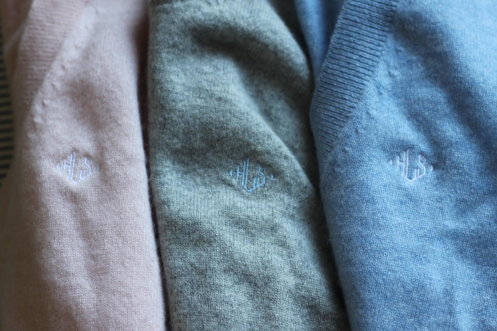 monogrammed cashmere