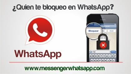 Como saber quien te bloqueo en WhatsApp