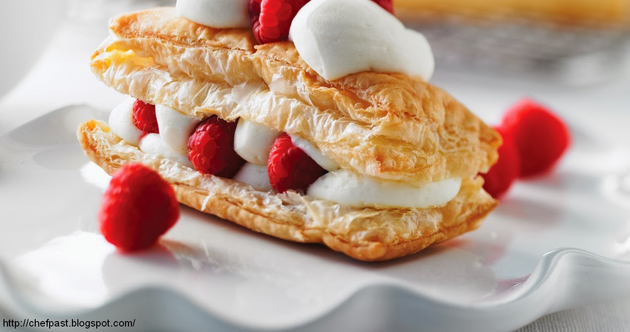 pastry recipes: White Chocolate-Cream filled Pastries