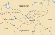 The Central AsiaChina gas pipeline, running from Turkmenistan to the .