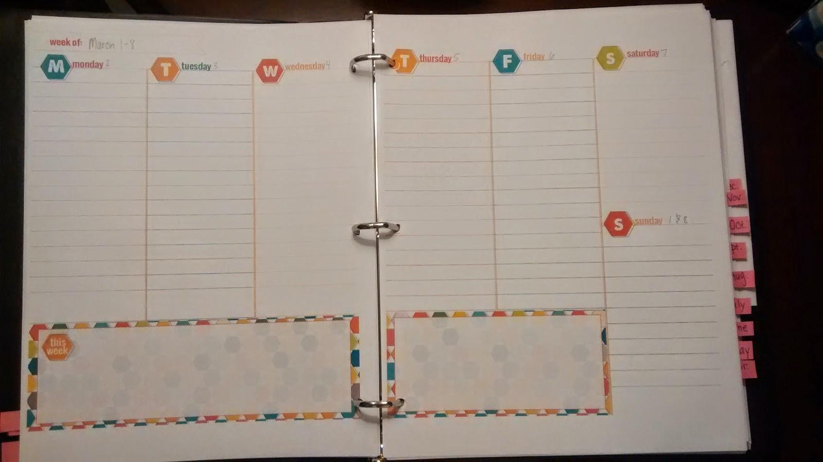 Homemade Calendars : For the love of poland homemade planner