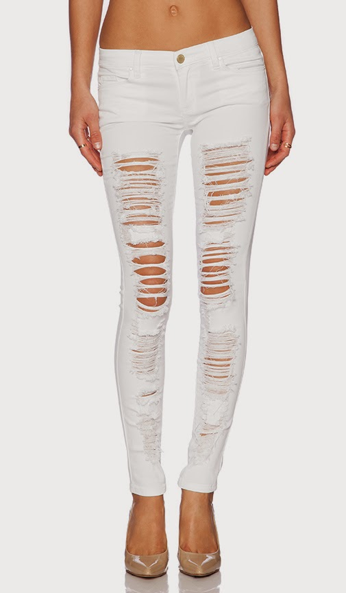 Distressed Skinny Jeans Blank NYC Denim