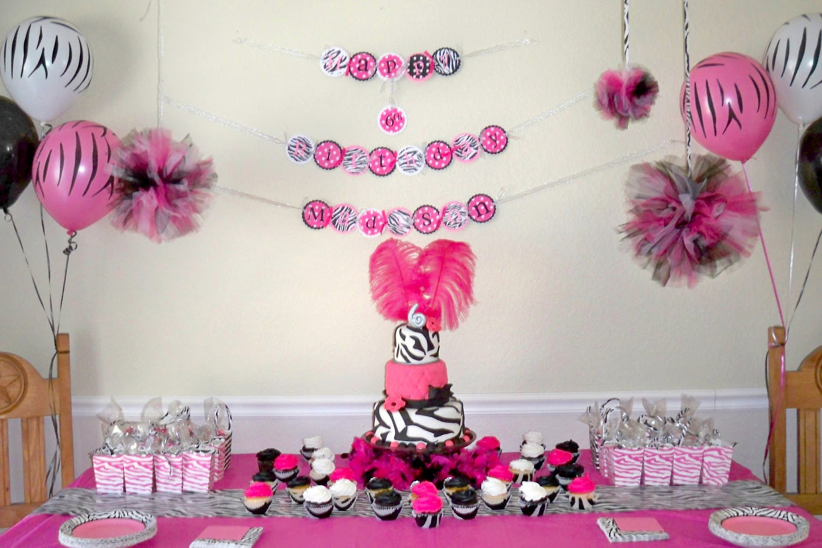 My creative way party planning for Baby girl birthday decoration pictures