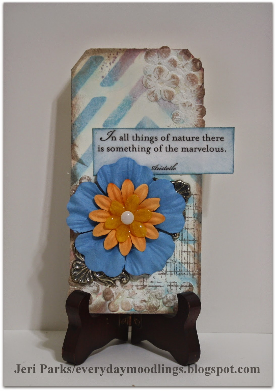 Everyday Moodlings: Paper Flowers Mixed Media Background