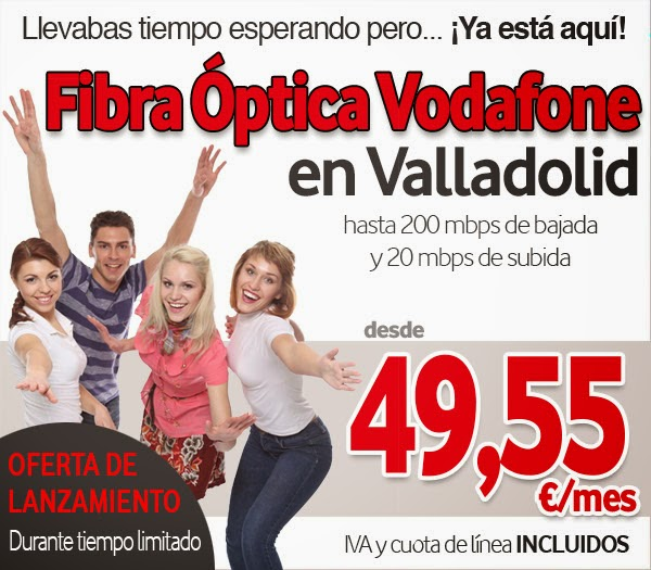 ¿Vives en Valladolid? La Fibra de Vodafone es tú mejor opción.