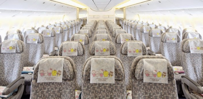 Economy class for the Hello Kitty Jet