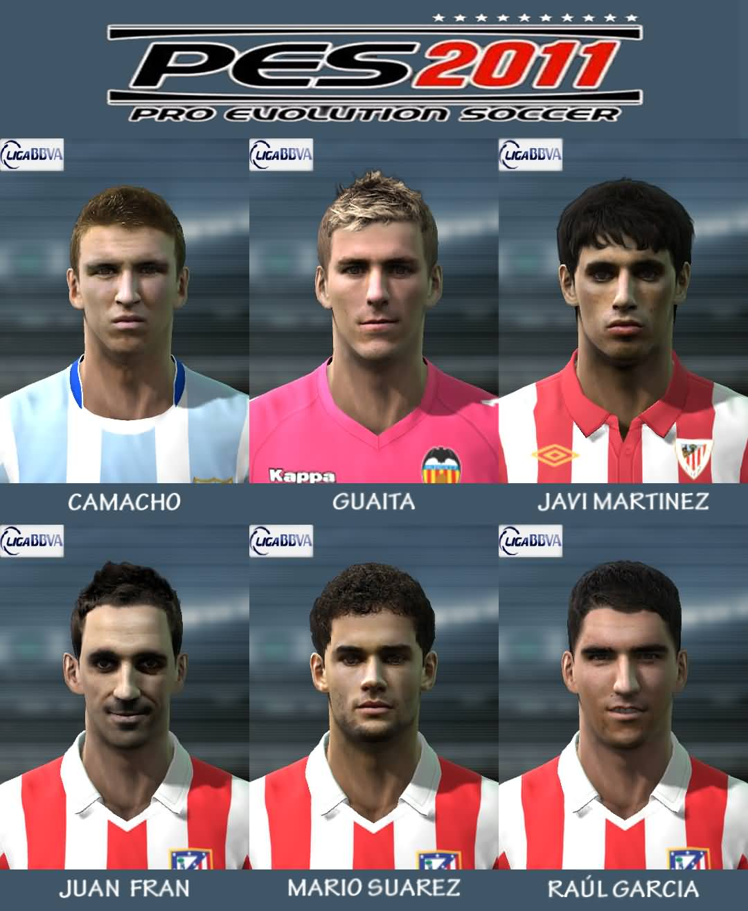 LIGA BBVA FACES PACK PARA PES 2011 BY EL YORUGUA
