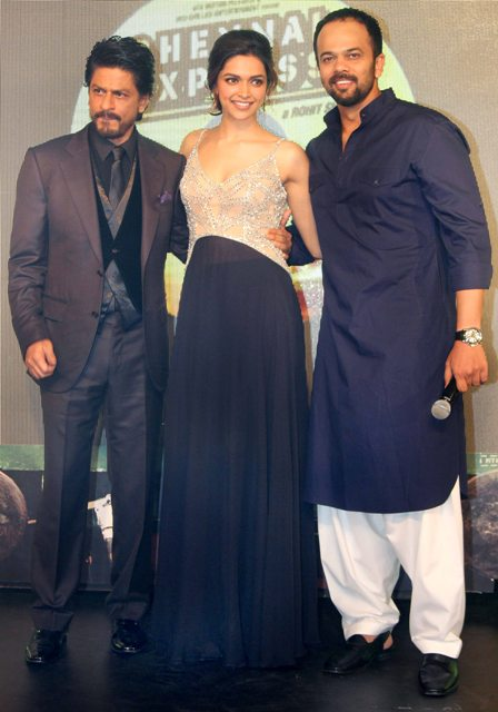 Srk Deepika Rohit Shetty Chennai Express Music Launch