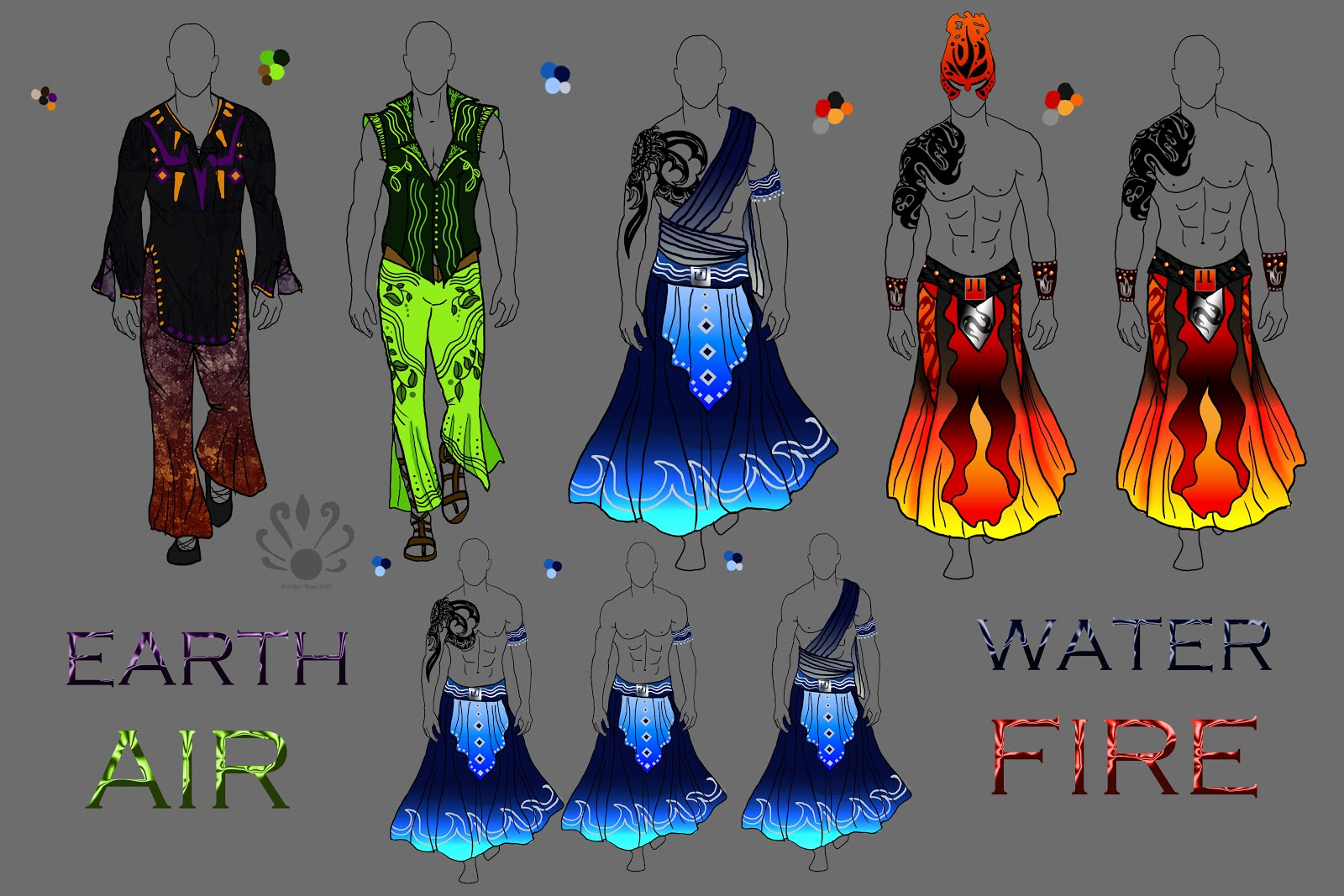 What Are The Six Main Elements Of Art : Pearllight studio the four elements male fashion