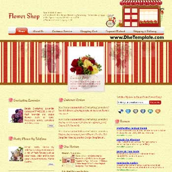 Flower Shop Blogger Template. blogger online shopping template