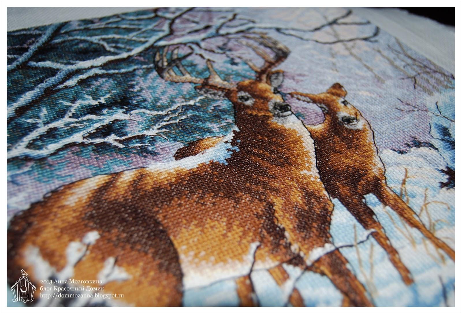 Creekside Deer Dimensions набор вышивка крестом
