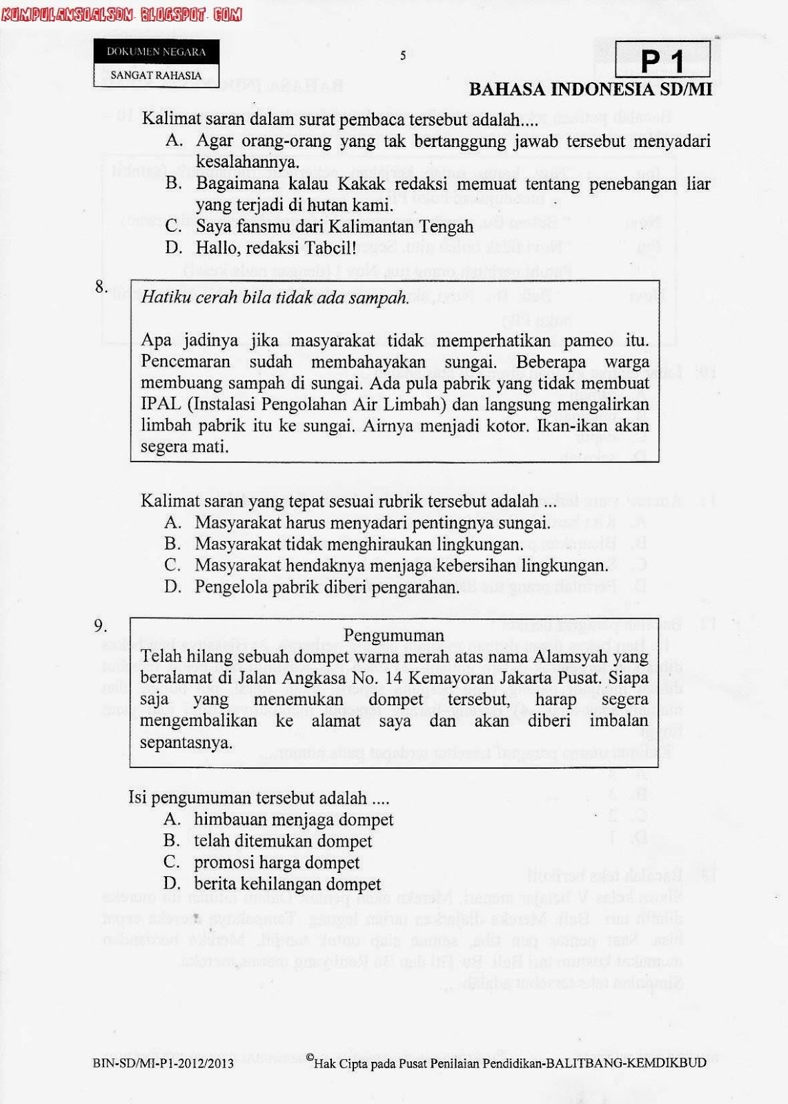 Soal Soal Bahasa Jawa Kelas 2 Semester Ganjil Tahun 2014 Newhairstylesformen2014 Com