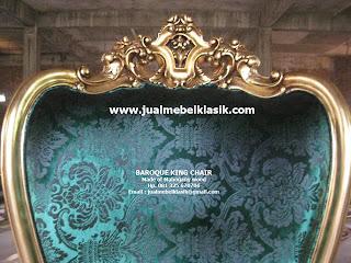 Supplier kursi klasik finishing cat emas duco, supplier kursi klasik ukir gold leaf painted