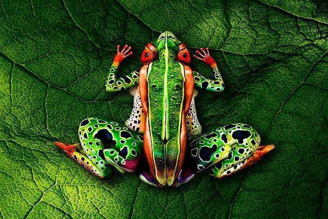 Arte com o corpo , você já viu??